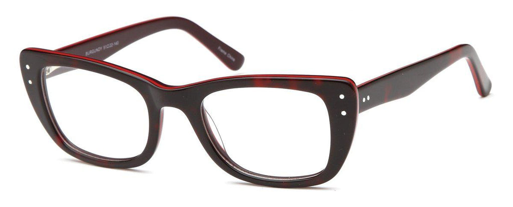 Burgundy-Modern Cat Eye DC 119 Frame-Prescription Glasses-Eyeglass Factory Outlet