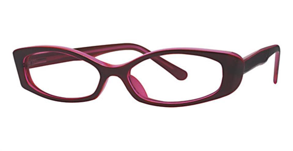 Burgundy-Modern Cat Eye Soho 44 Frame-Prescription Glasses-Eyeglass Factory Outlet