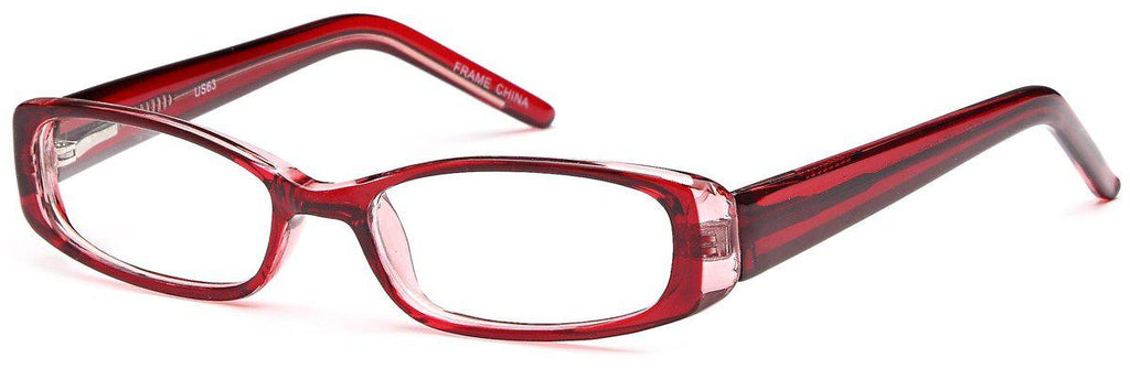 Burgundy-Modern Rectangular US 63 Frame-Prescription Glasses-Eyeglass Factory Outlet