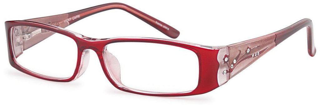 Burgundy-Modern Rectangular Vicky Frame-Prescription Glasses-Eyeglass Factory Outlet