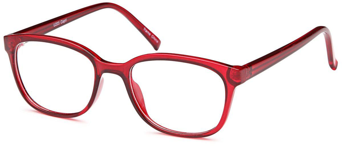 Burgundy-Modern Round U 203 Frame-Prescription Glasses-Eyeglass Factory Outlet