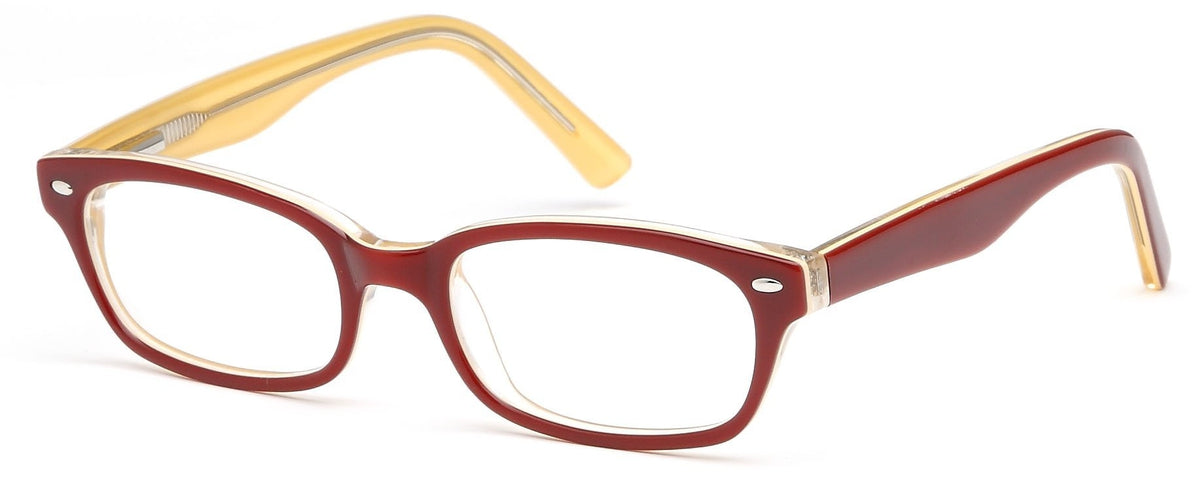Burgundy-Modern Wayfarer T 20 Frame-Prescription Glasses-Eyeglass Factory Outlet