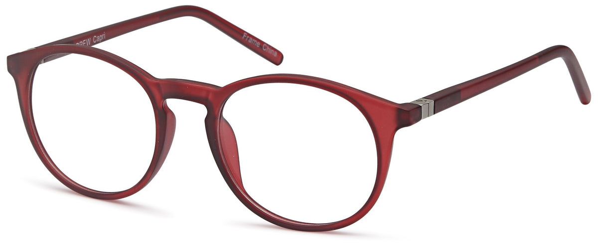 Burgundy-Retro Oval Drew Frame-Prescription Glasses-Eyeglass Factory Outlet