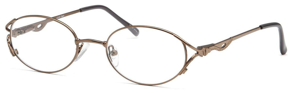 Coffee-Classic Oval Lilac Frame-Prescription Glasses-Eyeglass Factory Outlet
