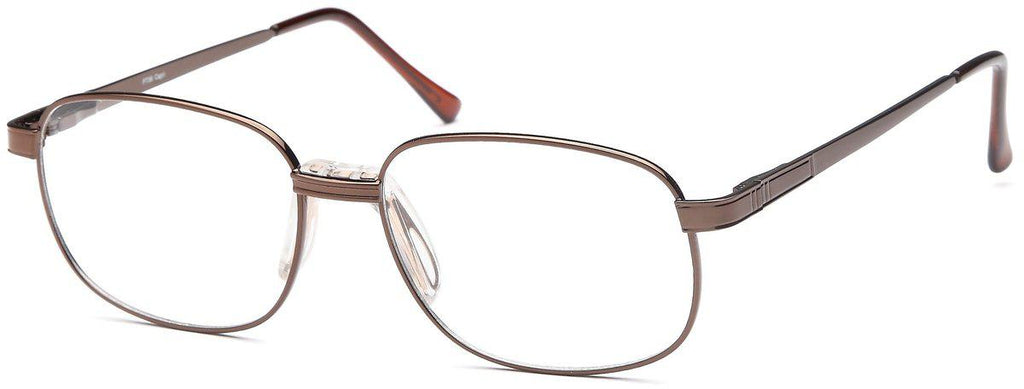 Coffee-Classic Oval PT 56 Frame-Prescription Glasses-Eyeglass Factory Outlet