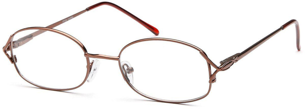 Coffee-Classic Oval PT 58 Frame-Prescription Glasses-Eyeglass Factory Outlet