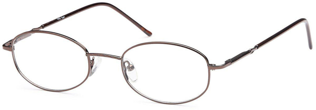 Coffee-Classic Oval PT 61 Frame-Prescription Glasses-Eyeglass Factory Outlet