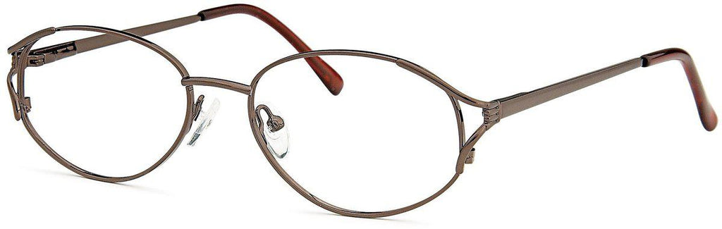 Coffee-Classic Oval PT 7704 Frame-Prescription Glasses-Eyeglass Factory Outlet
