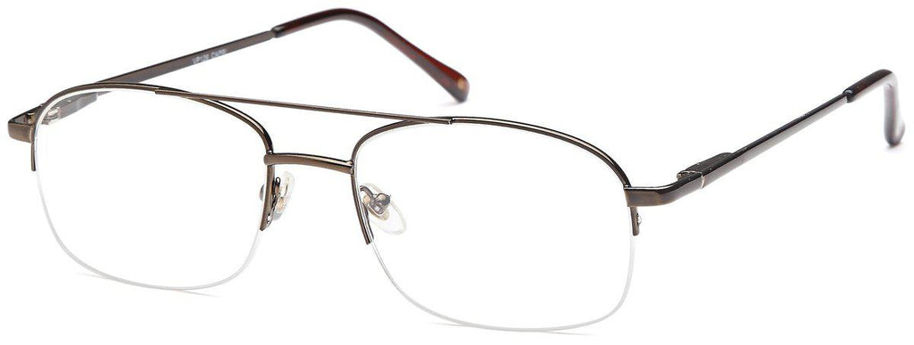Coffee-Classic Oval VP 126 Frames-Prescription Glasses-Eyeglass Factory Outlet