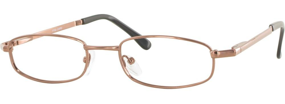 Coffee-Classic Rectangular PT 66 Frame-Prescription Glasses-Eyeglass Factory Outlet