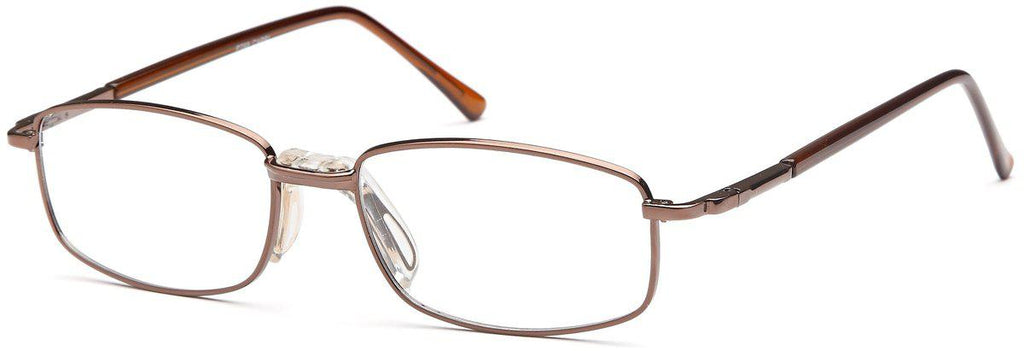 Coffee-Classic Rectangular PT 68 Frame-Prescription Glasses-Eyeglass Factory Outlet