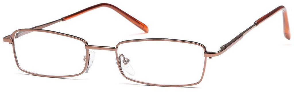 Coffee-Classic Rectangular PT 7720 Frame-Prescription Glasses-Eyeglass Factory Outlet