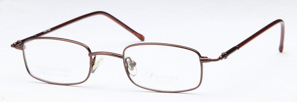 Coffee-Classic Rectangular VP 19 Frame-Prescription Glasses-Eyeglass Factory Outlet