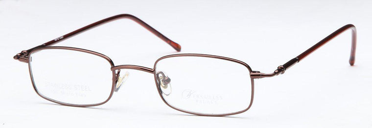 Silver-Classic Rectangular VP 19 Frame-Prescription Glasses-Eyeglass Factory Outlet