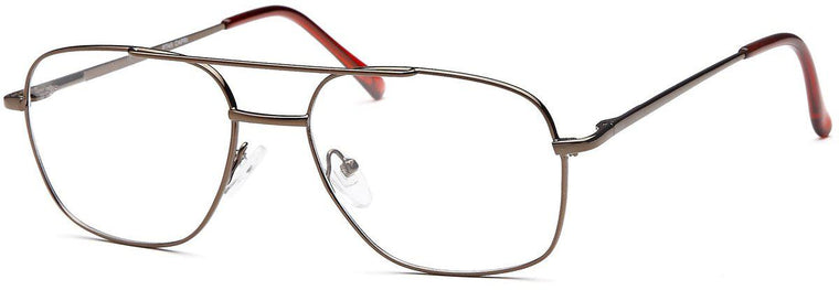 Gunmetal-Classic Square PT 45 Frame-Prescription Glasses-Eyeglass Factory Outlet