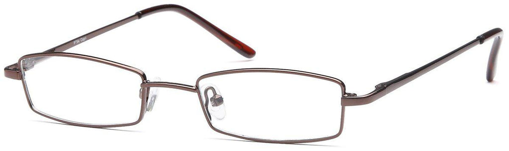 Coffee-Modern Rectangular PT 64 Frame-Prescription Glasses-Eyeglass Factory Outlet