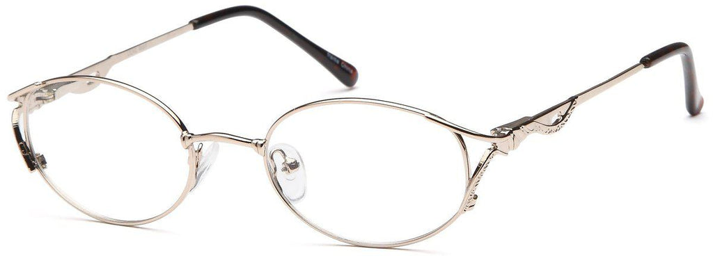 Gold-Classic Oval Lilac Frame-Prescription Glasses-Eyeglass Factory Outlet