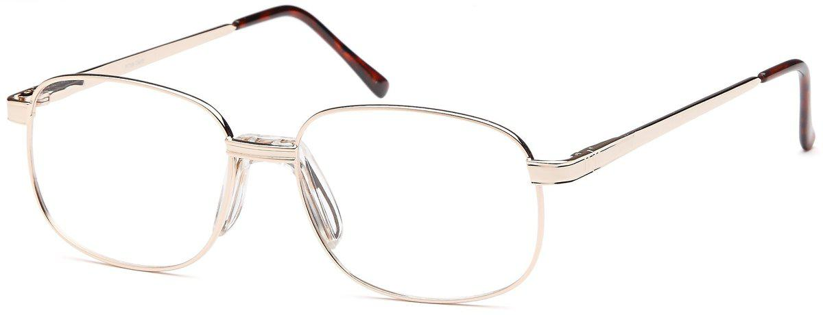 Gold-Classic Oval PT 56 Frame-Prescription Glasses-Eyeglass Factory Outlet