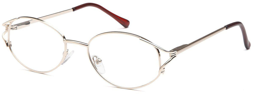 Gold-Classic Oval PT 7704 Frame-Prescription Glasses-Eyeglass Factory Outlet