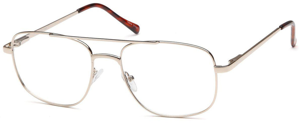 Gold-Classic Rectangular Olive Frame-Prescription Glasses-Eyeglass Factory Outlet