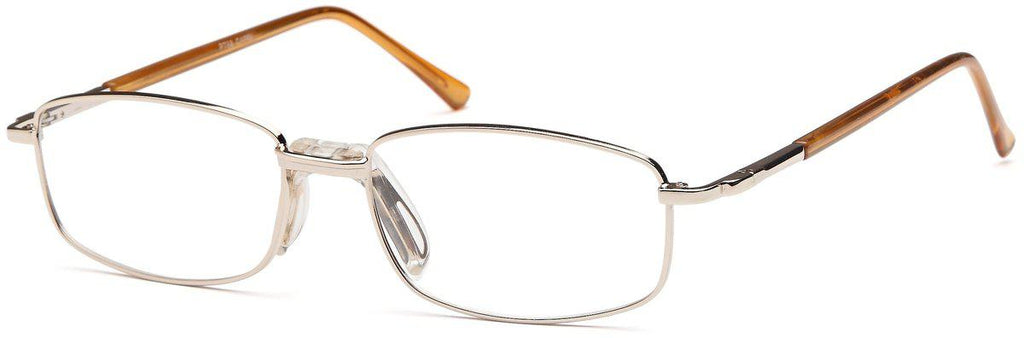 Gold-Classic Rectangular PT 68 Frame-Prescription Glasses-Eyeglass Factory Outlet