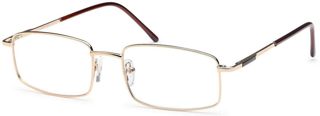 Gold-Modern Square PT 69 Frame-Prescription Glasses-Eyeglass Factory Outlet