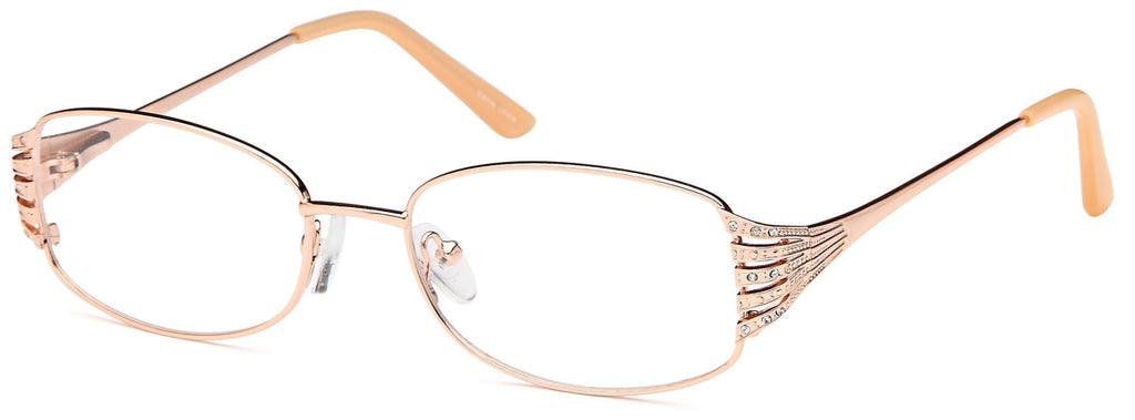Gold-Trendy Oval VP 209 Frame-Prescription Glasses-Eyeglass Factory Outlet