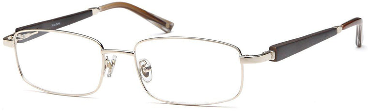 Gunmetal-Trendy Rectangular VP 200 Frame-Prescription Glasses-Eyeglass Factory Outlet