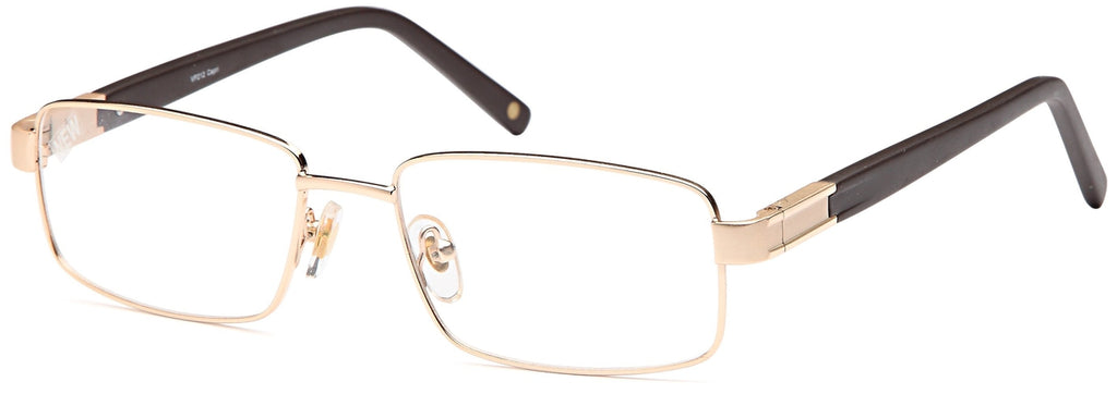 Gold-Trendy Rectangular VP 212 Frame-Prescription Glasses-Eyeglass Factory Outlet