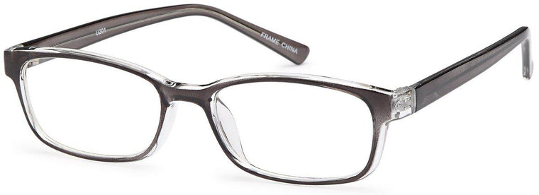 Black-Classic Square U 201 Frame-Prescription Glasses-Eyeglass Factory Outlet