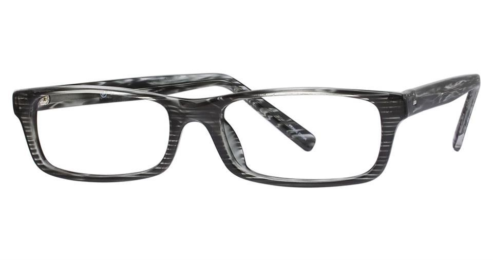 Grey-Modern Rectangular Soho 60 Frame-Prescription Glasses-Eyeglass Factory Outlet