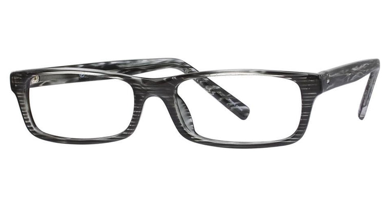 Black/Crystal-Modern Rectangular Soho 60 Frame-Prescription Glasses-Eyeglass Factory Outlet