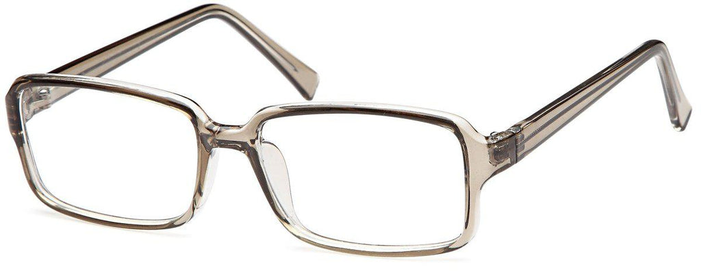 Grey-Modern Rectangular US 76 Frame-Prescription Glasses-Eyeglass Factory Outlet