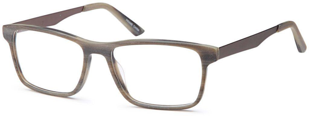 Grey-Trendy Square DC 315 Frame-Prescription Glasses-Eyeglass Factory Outlet