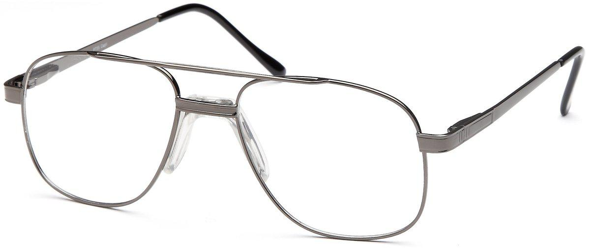 Gunmetal-Classic Aviator PT 55 Frame-Prescription Glasses-Eyeglass Factory Outlet