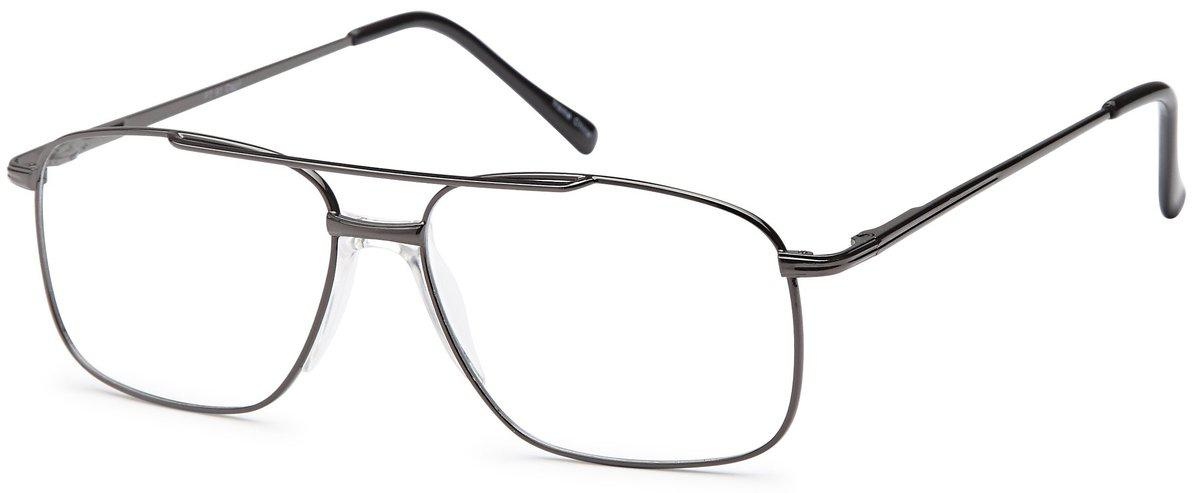 Gunmetal-Classic Aviator PT 91 Frame-Prescription Glasses-Eyeglass Factory Outlet