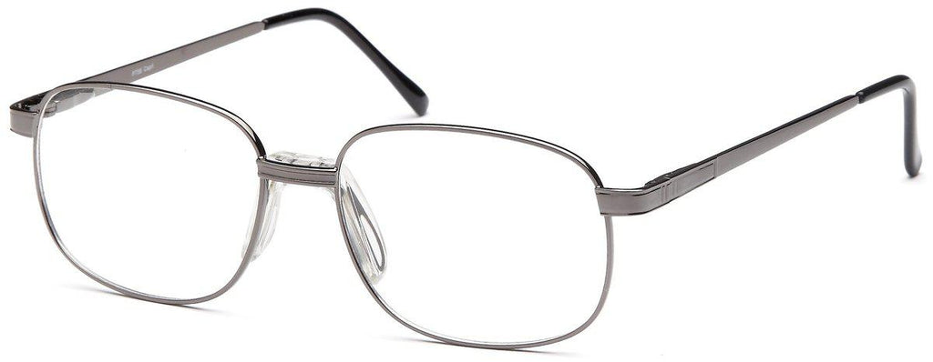 Gunmetal-Classic Oval PT 56 Frame-Prescription Glasses-Eyeglass Factory Outlet