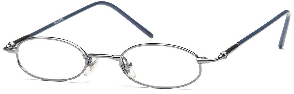 Gunmetal-Classic Oval VP 14 Frames-Prescription Glasses-Eyeglass Factory Outlet