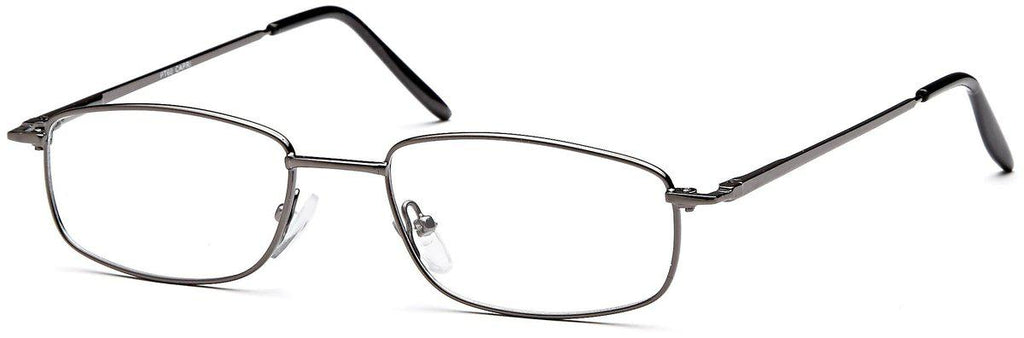 Gunmetal-Classic Rectangular PT 60 Frame-Prescription Glasses-Eyeglass Factory Outlet