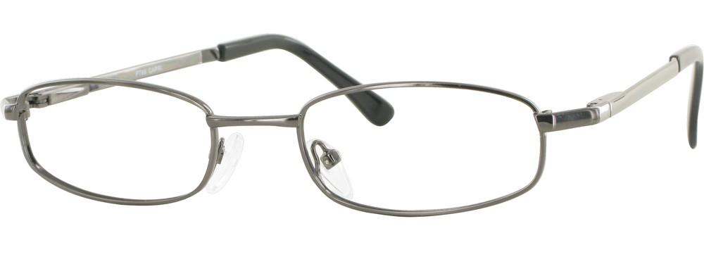 Gunmetal-Classic Rectangular PT 66 Frame-Prescription Glasses-Eyeglass Factory Outlet