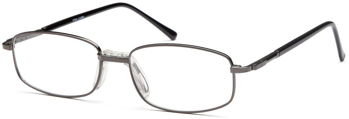 Gunmetal-Classic Rectangular PT 68 Frame-Prescription Glasses-Eyeglass Factory Outlet