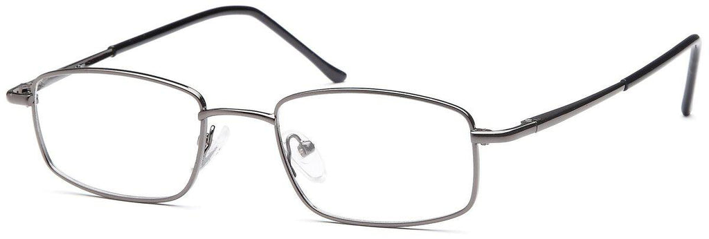 Gunmetal-Classic Rectangular PT 7713 Frame-Prescription Glasses-Eyeglass Factory Outlet