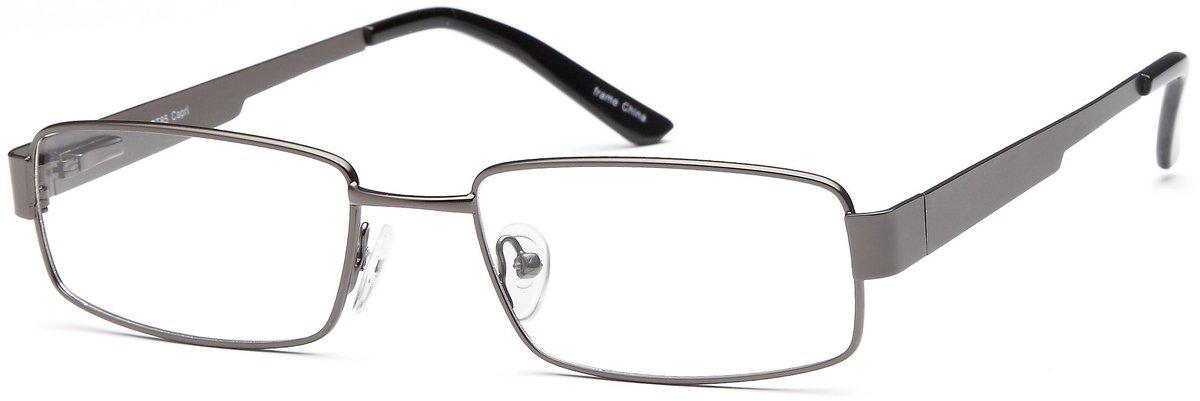 Gunmetal-Classic Rectangular PT 85 Frame-Prescription Glasses-Eyeglass Factory Outlet