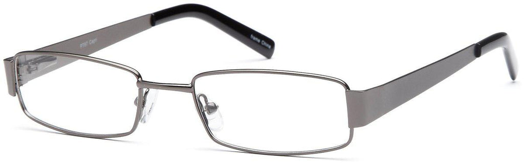 Gunmetal-Modern Rectangular PT 87 Frame-Prescription Glasses-Eyeglass Factory Outlet