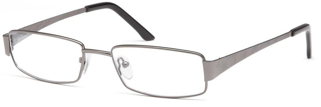 Gunmetal-Modern Rectangular PT 88 Frame-Prescription Glasses-Eyeglass Factory Outlet
