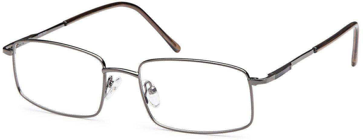 Gunmetal-Modern Square PT 69 Frame-Prescription Glasses-Eyeglass Factory Outlet
