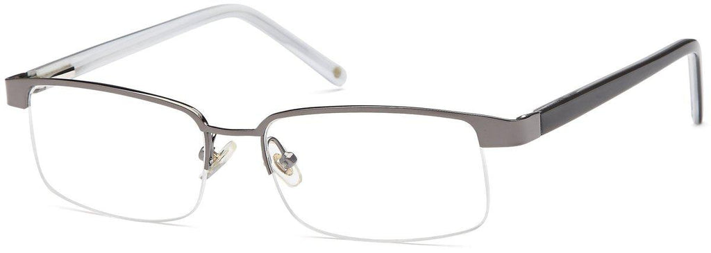 Gunmetal-Trendy Rectangular VP 111 Frames-Prescription Glasses-Eyeglass Factory Outlet