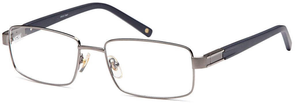 Gunmetal-Trendy Rectangular VP 212 Frame-Prescription Glasses-Eyeglass Factory Outlet