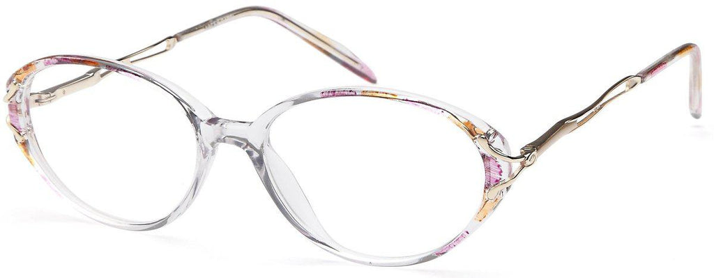 Pink-Classic Oval Lacey Frame-Prescription Glasses-Eyeglass Factory Outlet