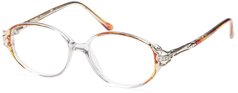 Brown-Classic Oval Michelle Frame-Prescription Glasses-Eyeglass Factory Outlet